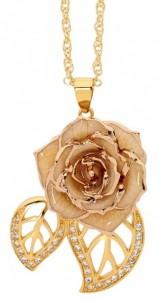 white rose pendant